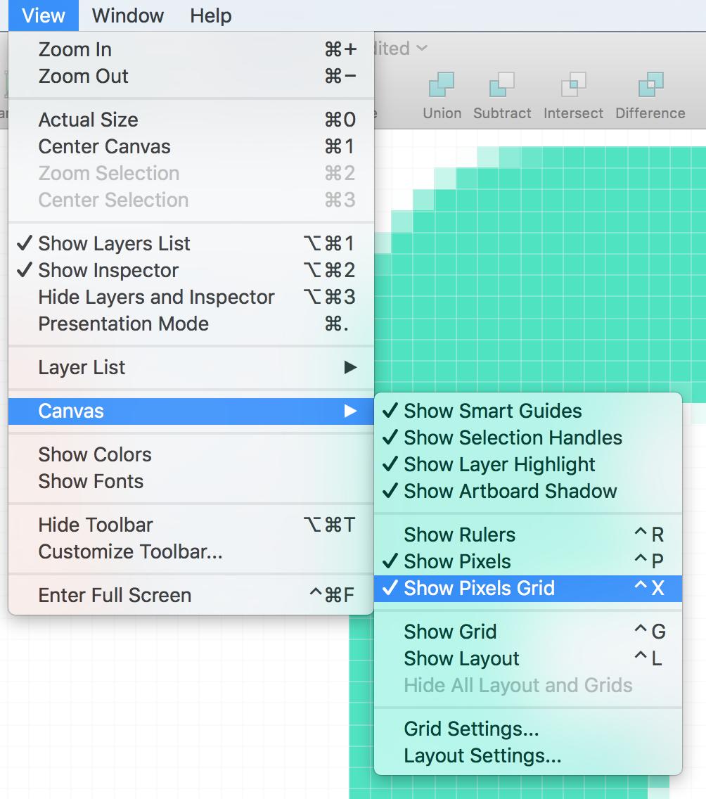 Show Pixels Grid